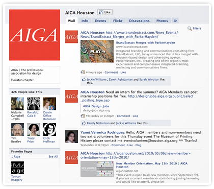 8 Reasons to connect with AIGA Houston on Facebook