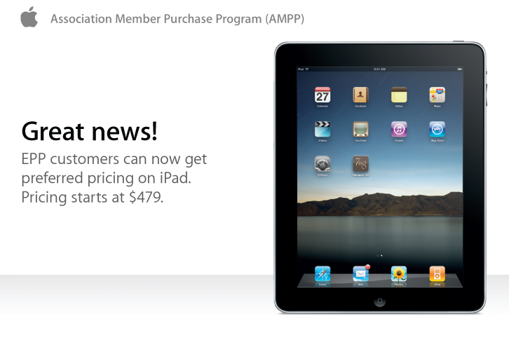 iPad AIGA Preferred Pricing