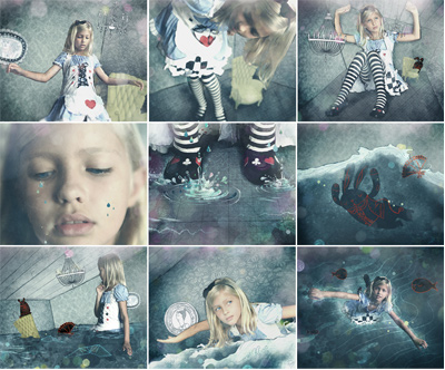 Alice In Wonderland Editorial Illustration