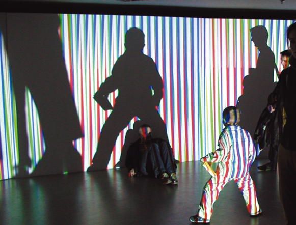 Carlos Cruz-Diez's Sculptural Environment