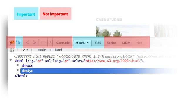 firebug toolbar