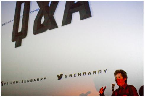 Ben Barry at Sundance Cinemas, photo courtesy of John Luu via the Houston AIGA Chapter Flickr page.