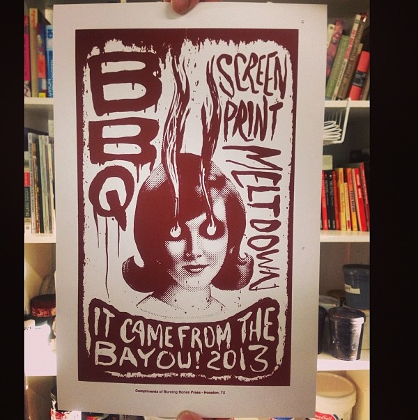BBQ Screen Print Meltdown, image courtesy of Carlos Hernandez's instagram