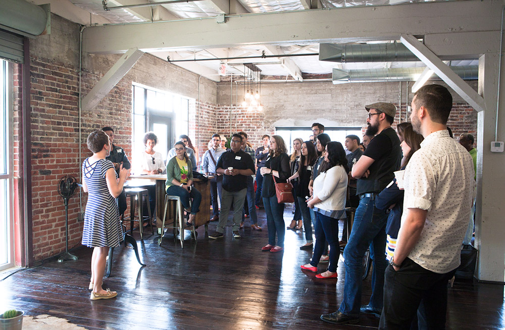 This year's Design Loop kickoff was hosted by NUU Group on Tuesday. Photo by Shaoshao Chen